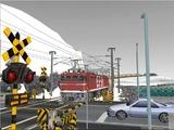 雪景色と貨物交換駅レイアウト踏切9.jpg