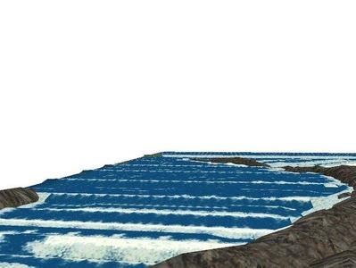 5編成並走見張線海岸線海面作り10