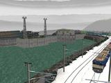 山奥停車場レイアウト雪景色15