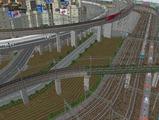 3欲張り新幹線レイアウト踏切道部分88