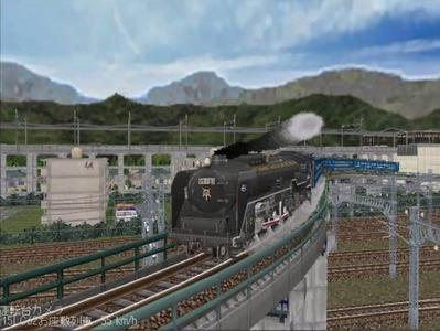 越河レイアウトカメラ切替ローカル見張線C62-3