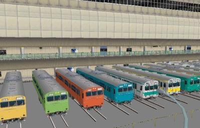 VRM3版車両博物館103系ブース斜め8