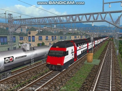 越河レイアウト特急シリーズ56-スイス国鉄IC-2000-1