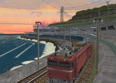 仮想日本海縦幹線日本海夕暮れ10日本海2