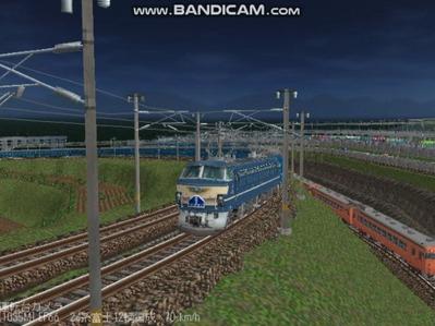 越河レイアウト夜汽車シリーズ11-EF6645富士3