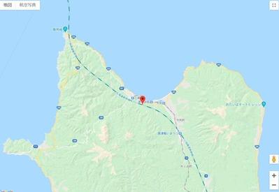 青函トンネル出口付近地図3-2