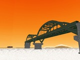 中路式アーチ橋3