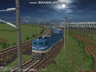 越河レイアウト夜汽車シリーズ15-EF58-138さくら-2