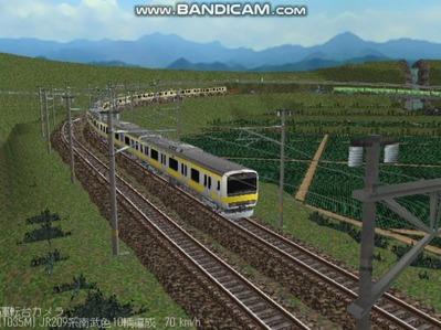 越河レイアウト電車シリーズ77-209系500番台8