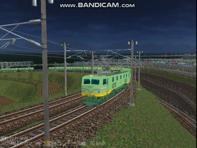 越河レイアウト夜汽車シリーズ18-EF58-45青大将コンテナ3