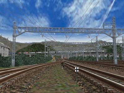 白石駅構内上り出発信号機5列車停止