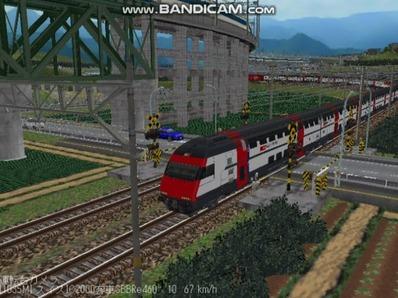 越河レイアウト特急シリーズ56-スイス国鉄IC-2000-7