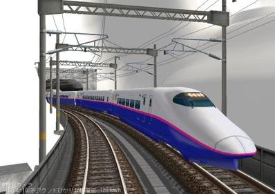 仮想日本海縦幹線雪景色夜明け前E2系1