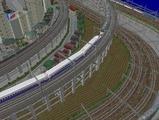 3欲張り新幹線レイアウト踏切道部分96