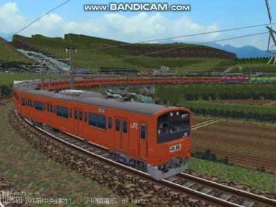 越河レイアウト電車シリーズ69-201系中央線オレンジ中特7
