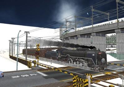 仮想日本海縦幹線雪景色C62-11
