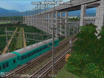 越河レイアウトお気に入り画像4新幹線高架橋脚