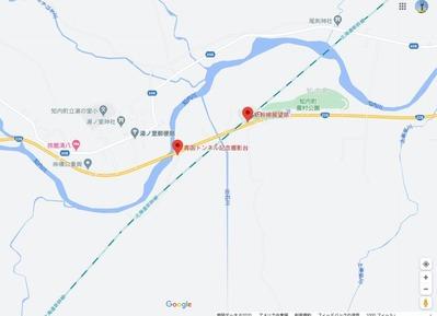青函トンネル出口付近地図5-1
