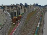 3欲張り新幹線レイアウト踏切道部分97