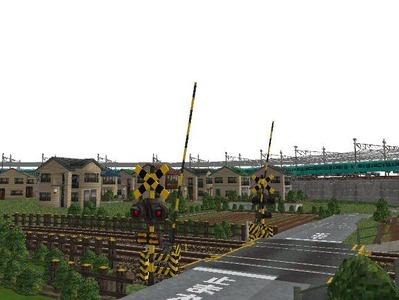 5編成並走見張分線A駅踏切7