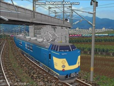 越河レイアウト電車シリーズ113-クモヤ192検測試験車3