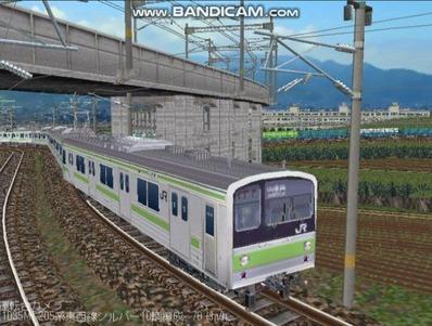 越河レイアウト電車シリーズ78-205系山手線5