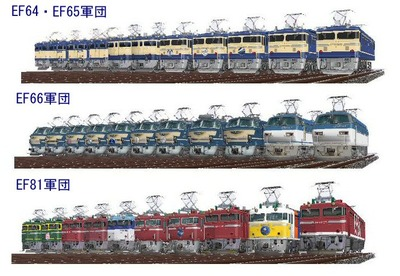 VRM3機関車EF64・65・66・81軍団