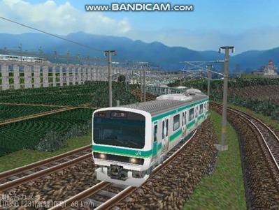 越河レイアウト電車シリーズ72-E231系常磐線2
