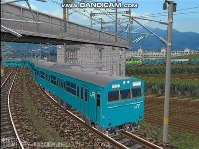 越河レイアウト103シリーズ99-103系JR高運転台スカイブルー色首都圏5