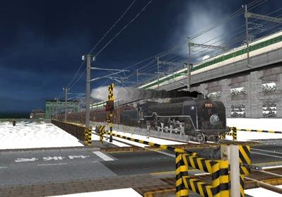 仮想日本海縦幹線雪景色C62-12
