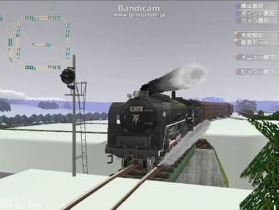 単線自動運転4編成雪景色10