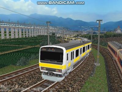 越河レイアウト電車シリーズ77-209系500番台2