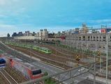 3欲張り新幹線レイアウト踏切道部分84