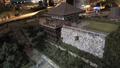 ジオラマ京都HOゲージ右側清水寺1