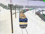 北の貨物駅通過中EF64重連1
