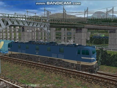 越河レイアウトカメラ切替貨物ヤード6-EF58-137-1