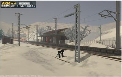 VRM漆黒氏レイアウト画像雪景色1