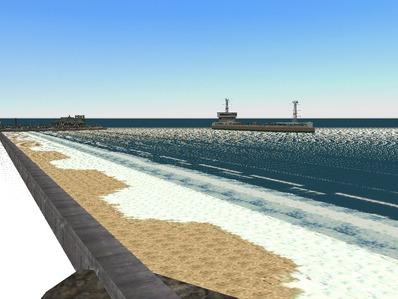 仮想日本海縦幹線雪景色海岸線完成1