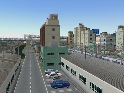 KATOユニトラックレイアウトプラン駅裏と踏切3