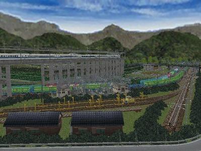 白石駅構内完成形上り方面レール保管3