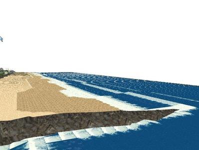 5編成並走見張線海岸線海面作り13