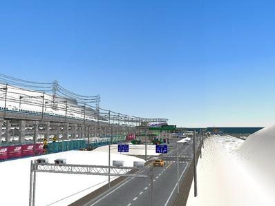 仮想日本海縦幹線雪景色国道制作6