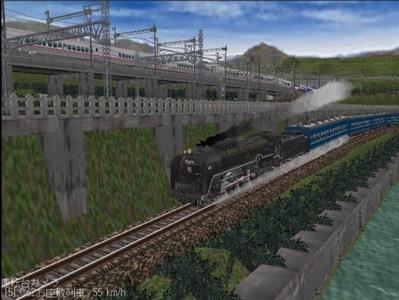 越河レイアウトカメラ切替ローカル見張線C62-6