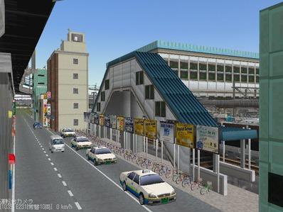 KATOユニトラックレイアウトプ6-9中央駅前周辺1