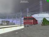 北の貨物駅通過中EF81-37-1