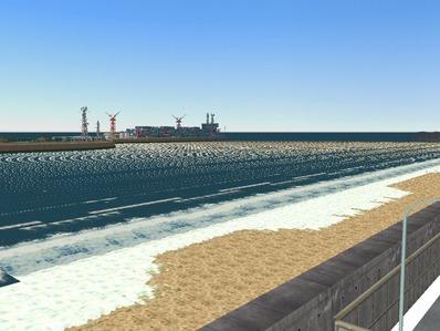 仮想日本海縦幹線雪景色海岸線完成2
