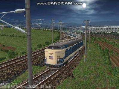 越河レイアウト夜汽車シリーズ2-583系はつかり4