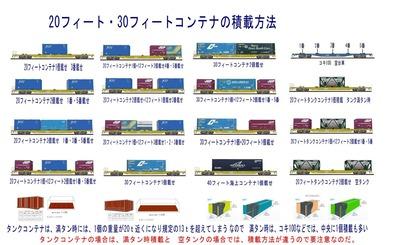 20フィートコンテナJRF赤基本積載方法2