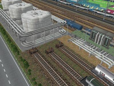 越河レイアウト白石駅構内石油基地5
