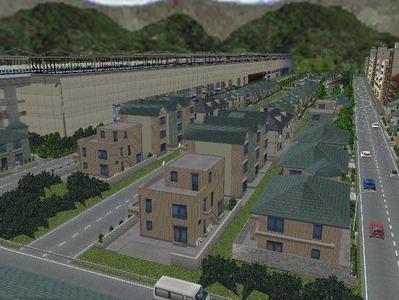 白石駅構内完成形下り方面4住宅